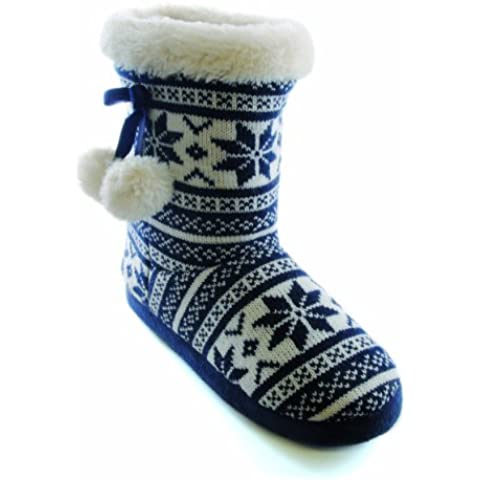 Universal Textiles - Zapatillas de estar por casa para mujer