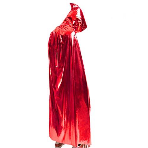 Halloween Kostüm cosplay magischen Mantel Goldfolie Tuch für Partei dress up Kleidung ( Farbe : Rot , größe : 150cm )
