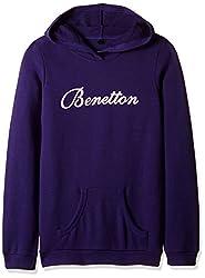 United Colors of Benetton Girls Sweatshirt (16A3067C0047IK31XX_Ink Blue)