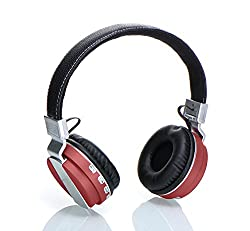 Laploma Hertz Wireless Bluetooth Headphone & Headsets With Mic Color- Red