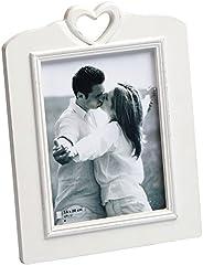 Walther Design YG520W Cornice per Ritratto White Heart  Ÿ, Legno, Bianco, 22 x 2.1 x 28.5 cm