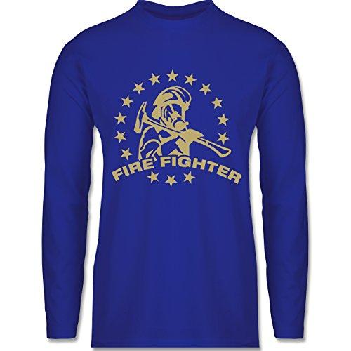 Shirtracer Feuerwehr - Fire Fighter - Herren Langarmshirt Royalblau