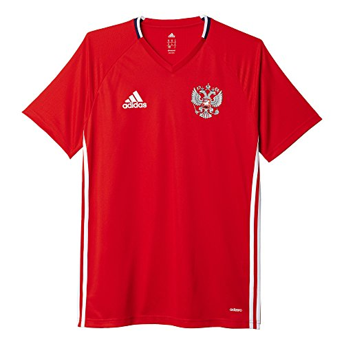 adidas Herren Russland Trainingstrikot Kurzarm Trikot Red/White/Dark Blue XL