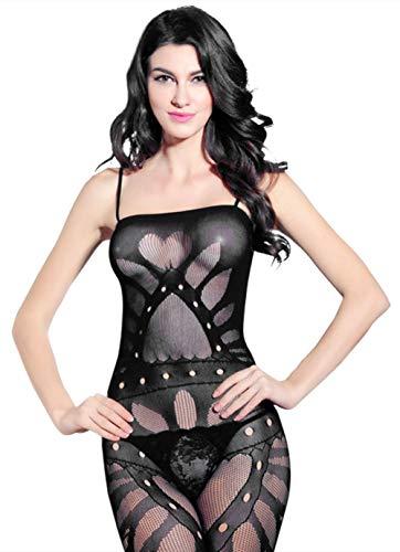 Catsuites Schlinge Erotische Unterwäsche Perspektive Öffnen Pyjama Herzförmig Uniform Innerhalb Verführung Siamesische Strümpfe, Black, one (Black Cat Kostüme Für Frauen)