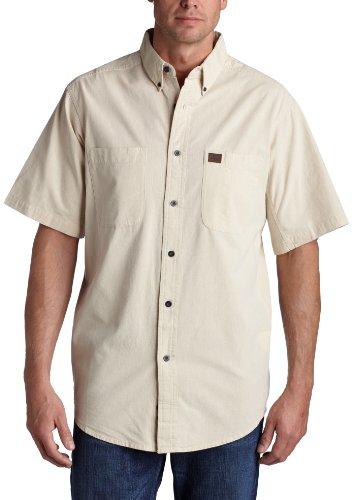 Wrangler Riggs Workwear Herren Arbeitshemd Chambray Big & Tall - Beige - XX-Large Hoch - Herren Arbeitshemd Aus Denim