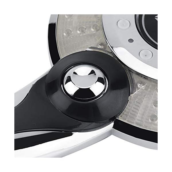 Cabezal De Ducha LED Cuarto De Baño De Mano Control De Temperatura De 3 Colores Cambio De Color Ducha De Mano Con Pantalla Digital De Temperatura Ahorro De Agua 3 Modo De Pulverización (#1)
