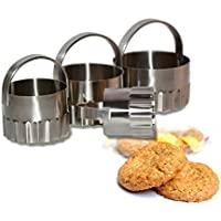Neue MZMZ-generic Gourmet Küche Edelstahl Ausstecher Cookie Backen Werkzeuge kreative Küchenutensilien 08/15 , Hellrotem*4cm*55g