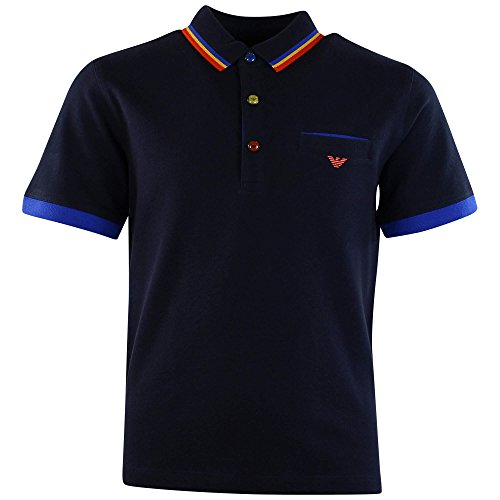 Armani Junior Polo Shirt 15k5 Navy 10Y - Junior Armani