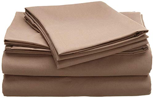 Jose Farmer Bettwäsche Hotelqualität Fadenzahl 1000100% ägyptische Baumwolle Ultra Soft 4Stück Bed Sheet Set Fitt bis 38,1cm Deep Pocket Set (King, Taupe, Massiv) (20-zoll-pocket-king-blatt)
