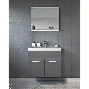Badezimmer Unterschrank Waschbecken Grau Deine Wohnideen De