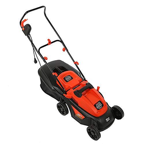 DQM Elektrischer Rasenmäher, Gartenhäcksler, Handschiebemäher Kleiner Rasenmäher, steckbar, 3-Fach höhenverstellbar -