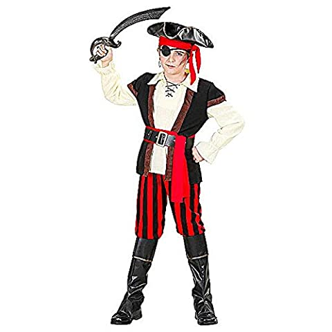 Costumes Deluxe Pirate Eye Patch - Déguisement pirate enfant - Taille 8-10 ans