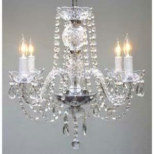 Nouveau! Tous authentique Crystal Chandelier lustres au plafond Lampe suspension luminaire H 230 x L 43,20 cm 43,20 cm