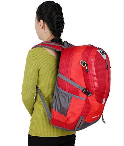 LQABW 2017 Travel Mountaineering Schulter Reit Tasche Männlichen Damen Im Freien Wasserdichten Reise Rucksack Red