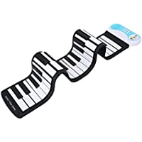 Roll Up Piano Keyboard Pieghevole, 49 Keys Giocattolo Tastiera Elettrica in Silicone Flessibile per Bambini Principianti