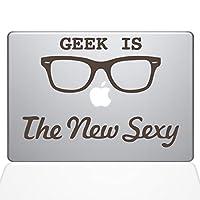"The Decal Guru Geek is the New Sexy MacBook Decal Vinyl Sticker - 13"" Macbook Air - Brown (1066-MAC-13A-BRO)"