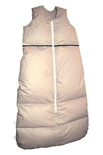 Premium Daunenschlafsack, längenverstellbar, Alterskl. älter 24 Monate, sand Pünktchen, 130 cm