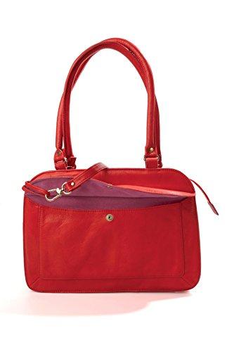 mamix–Tasche Akkordeon–Damen–�?00% Leder Rot