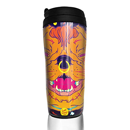 Travel Coffee Mug Psychedelic Trippy 12 Oz Spill Proof Flip Lid Water Bottle Environmental Protection Material ABS