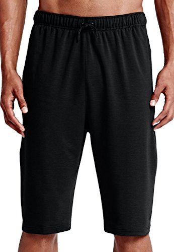 NIKE Herren Dri-Fit Training Fleece Shorts, Fracht Black (Schwarz / Schwarz)