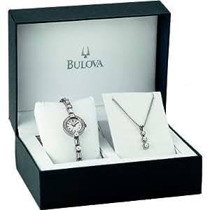 Bulova Ladies' Crystal And Pendant Set 96X113