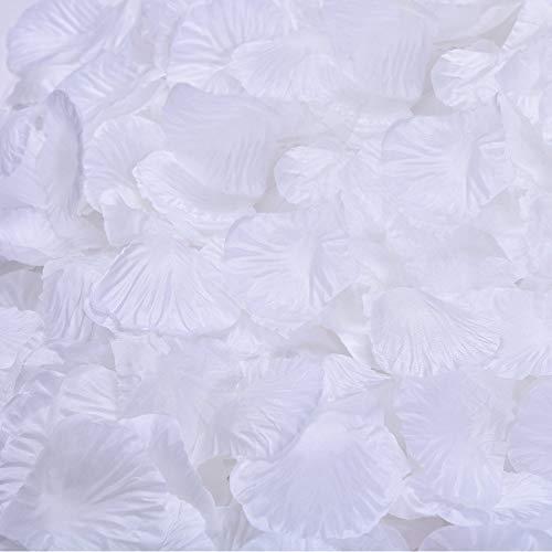 Beskit 3000pezzi petali di rosa in seta artificiale petali di fiori per festa di nozze fiore ragazza nuziale doccia hotel Home party Valentine Day fiore decorazione bianco