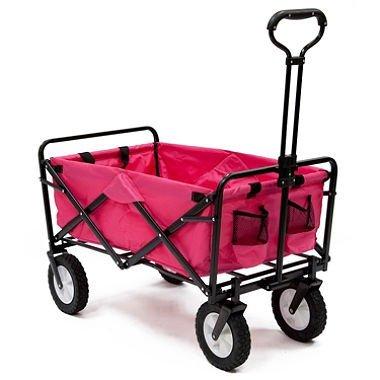 Unbekannt Pink Mac Sports Zusammenklappbar Utility Wagon Garten Legen Einkaufstasche Beach (Sport Utility Wagon)