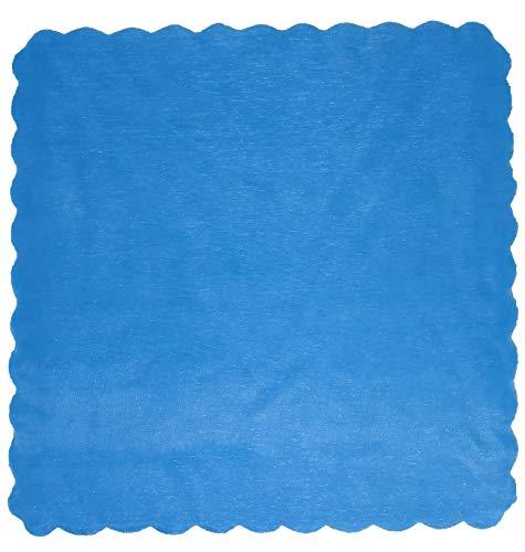 100 x velo veli di fata tulle organza quadrato veletti bomboniere fai da te confetti azzurro themagicfour®