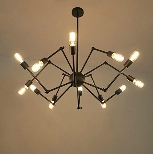 6 Tiffany Deckenleuchte (MOMO Personalisierte dekorative Beleuchtung Vintage einfache Aluminium-Deckenleuchte,6 Kopf)