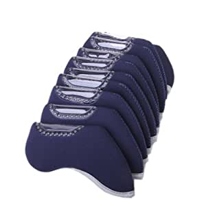 10Pcs Golf Iron Head Nylon Cover Case - Navy