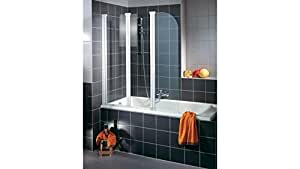 SCHULTE Badewannenaufsatz Wega ohne Antikalk-Versiegelung, alufarben