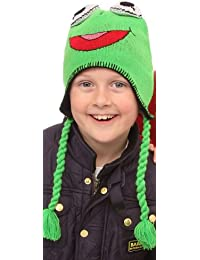 Childrens Fun Animal Peru Hats (Green Frog Design)