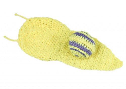 Imagen de v sol amarillo caracol bebé recién nacido algodón aminal beanie sombreros ropa disfraz fotografía proposición para niño niña 3 6 meses