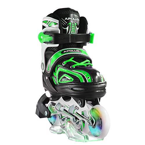 Apollo Super Blades X Pro, größenverstellbar von 31 bis 42, LED Inline-Skates, Rollerblades für Kinder, ideal für Anfänger, komfortable Rollschuhe, Inliner für Mädchen und Jungen -