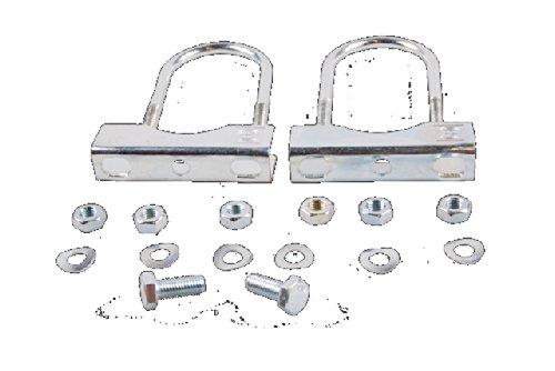 Preisvergleich Produktbild Anhänger Stützrad Klemmhalter Befestigung an Deichsel Außenrohr 48mm Ø Zugrohr 70mm Ø Rund verzinkt