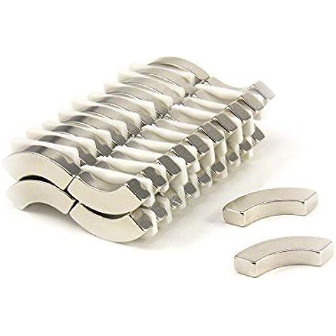 first4magnets ARC4025-40 20 mm quirófano x 12,5 mm x infrarroja 90 Degree x 5 mm con texto en inglés N42 Arc neodimio imán con 5 kg tirador (40