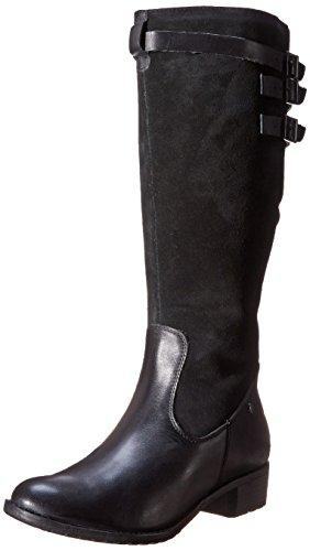Hush Puppies Leslie Chamber Reitstiefel Black/Black Waterproof Leather/Suede