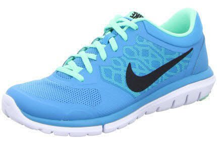 Nike Flex 2015 Run Women Laufschuhe blue lagoon-black-green glow-white -