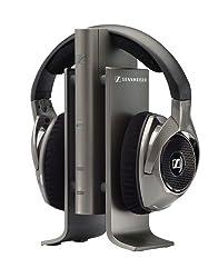 Sennheiser RS 180 - Funk-Stereo-Kopfhörer - Offener, ohrumschließender digitaler Funkkopfhörer mit unkomprimierter Audioübertragung von Kleer - Dynamische Wandlersysteme mit leistungsstarken Neodym-Magneten für klare und detailreiche Klangwiedergabe ...