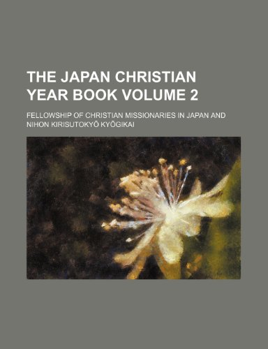 The Japan Christian year book Volume 2
