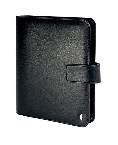 Chronoplan 50103 Organizer Kunstleder (Terminplaner A5 mit Lasche) Ringbuch schwarz