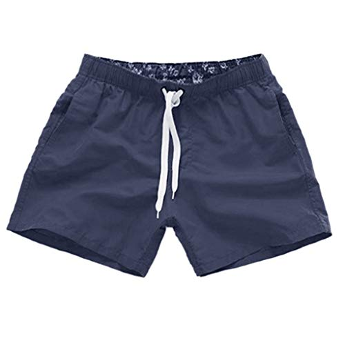 Sylar Pantalones de Playa Color sólido Pantalones Cortos de Deporte con cordón para Hombre bañadores...