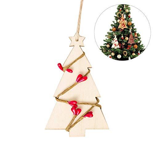 Lot de 5 décorations de Noël en rotin pour décoration de fête, décoration de Noël, pendentif, planche en bois, décoration de Noël, décorations décoratives, beige
