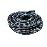HJH - Rollo de tubo corrugado, 25 mm de diámetro, flexible, se vende por metros, color negro