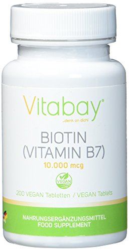 Biotin 10.000 mcg / 10 mg - 200 vegane Tabletten -...