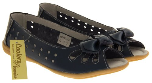 Footwear Studio , Ballerines pour femme beige/berry/black/blue/navy blue/pink/white Bleu - Navy (Bow)