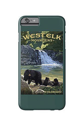 West Elk Mountains, Colorado - Bear Family and Waterfall (iPhone 6 Plus Cell Phone Case, Slim Barely There)