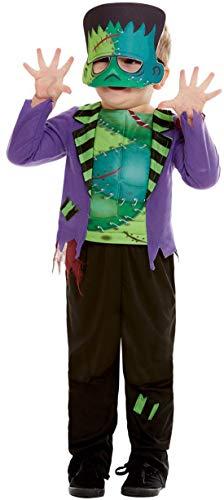 Halloweenia - Jungen Kinder Monster Frankenstein Toodler Kostüm, Hose Top und Maske, perfekt für Halloween Karneval und Fasching, 92-98, Grün