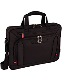 "Wenger 600658 INDEX 16"" Laptop Slimcase , Padded laptop compartment with iPad/Tablet / eReader Pocket in Black {10 Litres}"
