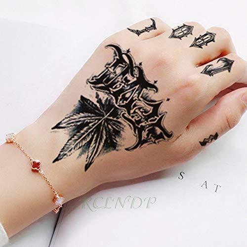 5pcs Impermeable Tatuaje Totem Negro Línea Flecha